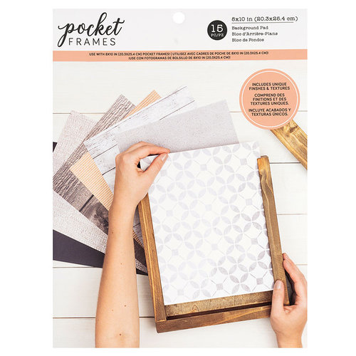 American Crafts - Details 2 Enjoy Collection - Pocket Frames - Background Pad - 8 x 10 - 15 Pieces
