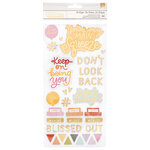American Crafts - It's All Good Collection - Thickers - Chipboard with Foil Accents - Phrases and Icons - Be Bright