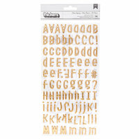 American Crafts - It's All Good Collection - Thickers - Puffy with Foil Accents - Alpha - Main Squeeze
