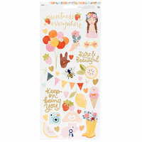 American Crafts - It's All Good Collection - Cardstock Stickers with Foil Accents - Accents and Phrases