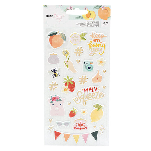 American Crafts - It's All Good Collection - Puffy Stickers with Foil Accents