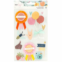 American Crafts - It's All Good Collection - Layered Stickers with Foil Accents