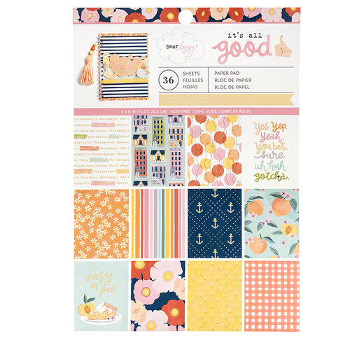 American Crafts - It's All Good Collection - 6 x 8 Paper Pad with Foil Accents