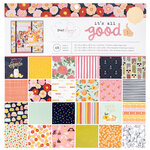 American Crafts - It's All Good Collection - 12 x 12 Paper Pad with Foil Accents