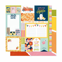 American Crafts - It's All Good Collection - 12 x 12 Double Sided Paper - Main Squeeze