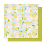 American Crafts - It's All Good Collection - 12 x 12 Double Sided Paper - Pink Lemonade