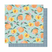 American Crafts - It's All Good Collection - 12 x 12 Double Sided Paper - Peachy Keen