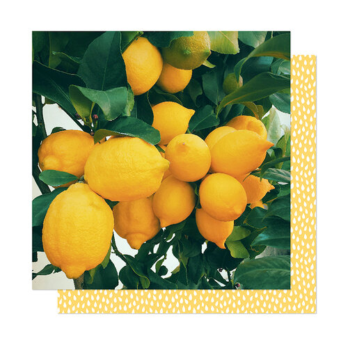 American Crafts - It's All Good Collection - 12 x 12 Double Sided Paper - Lemon Drop