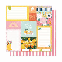 American Crafts - It's All Good Collection - 12 x 12 Double Sided Paper - Easy As Pie