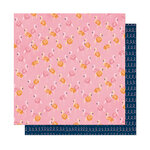 American Crafts - It's All Good Collection - 12 x 12 Double Sided Paper - Let's Flamingle