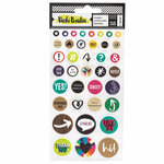 American Crafts - Color Kaleidoscope Collection - Puffy Sticker Sheet