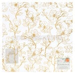 American Crafts - It's All Good Collection - 12 x 12 Vellum with Foil Accents - Blossom