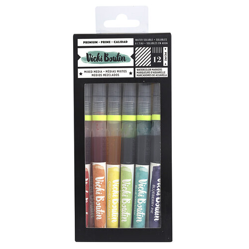 American Crafts - Color Kaleidoscope Collection - Watercolor Markers