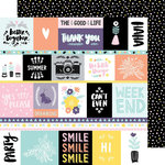 American Crafts - Shine On Collection - 12 x 12 Double Sided Paper - The Good Life