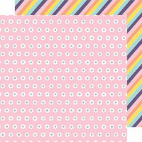 American Crafts - Shine On Collection - 12 x 12 Double Sided Paper - Flourish