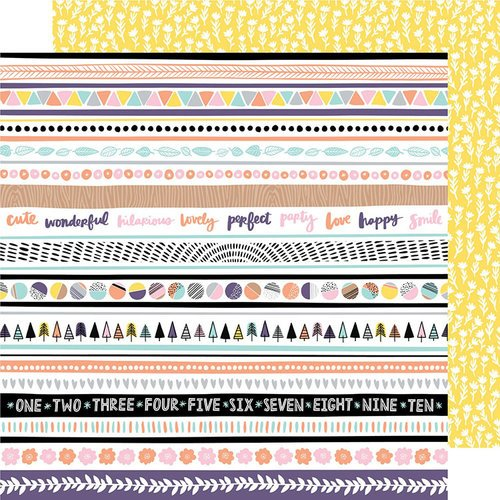 American Crafts - Shine On Collection - 12 x 12 Double Sided Paper - Even Out