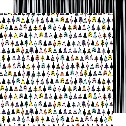American Crafts - Shine On Collection - 12 x 12 Double Sided Paper - Forest