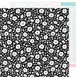 American Crafts - Shine On Collection - 12 x 12 Double Sided Paper - Blooms