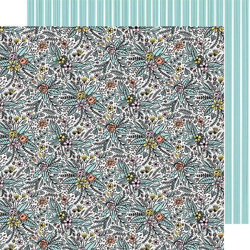 American Crafts - Shine On Collection - 12 x 12 Double Sided Paper - Bouquet