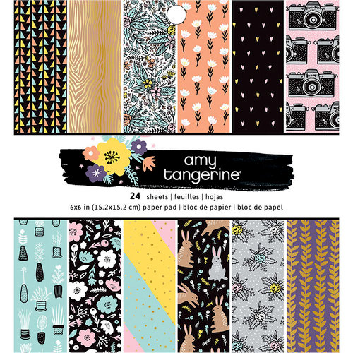American Crafts - Shine On Collection - 6 x 6 Paper Pad with Holographic Foil Accents