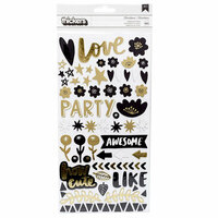 American Crafts - Shine On Collection - Thickers - Foil - Phrase - Miscellanea