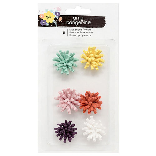 American Crafts - Shine On Collection - Flowers - Faux Suede