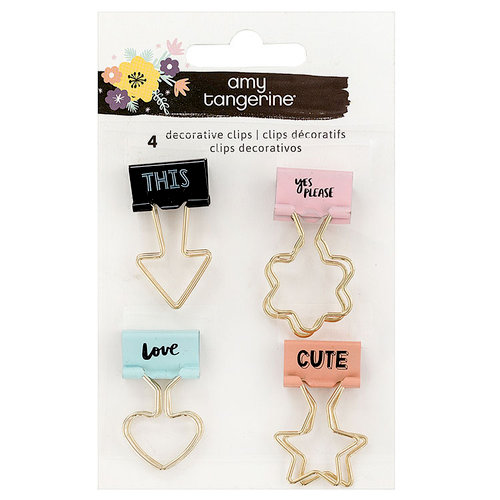 American Crafts - Shine On Collection - Binder Clips