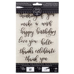 Kelly Creates - Clear Acrylic Stamps - Traceable - Bouncy - Celebration