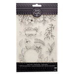 Kelly Creates - Clear Acrylic Stamps - Traceable - Florals