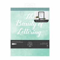 Kelly Creates - Practice Pad - Beauty of Lettering Quote - 8 x 10 - 50 Pages