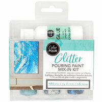 American Crafts - Color Pour Collection - Glitter Pouring Paint Mix-In Kit - Tidal Wave