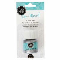 American Crafts - Color Pour Collection - Pre-Mixed Pour Art Foil Paint - Silver