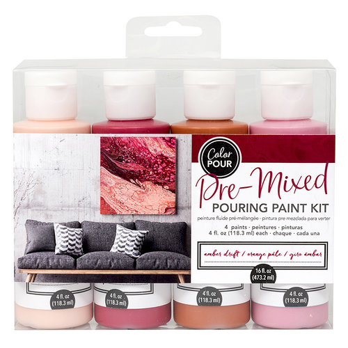 American Crafts - Color Pour Collection - Pre-Mixed Pouring Paint Kit - Amber Drift