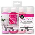 American Crafts - Color Pour Collection - Pre-Mixed Pouring Paint Kit - Berry Rush
