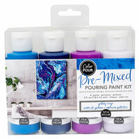American Crafts - Color Pour Collection - Pre-Mixed Pouring Paint Kit - Galaxy Surge