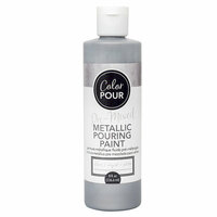 American Crafts - Color Pour Collection - Pre-Mixed Metallic Pouring Paint - Silver