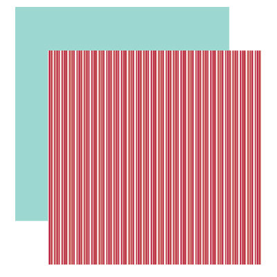 American Crafts - Merrymint Collection - Christmas - 12 x 12 Double Sided Paper - Candy Cane Lane, CLEARANCE