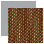 American Crafts - Merrymint Collection - Christmas - 12 x 12 Double Sided Paper - Pecan Pie, CLEARANCE