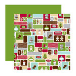 American Crafts - Merrymint Collection - Christmas - 12 x 12 Double Sided Paper with Foil Accents - Gingersnap, CLEARANCE