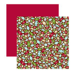 American Crafts - Merrymint Collection - Christmas - 12 x 12 Double Sided Paper with Glitter Accents - Peppermint, CLEARANCE