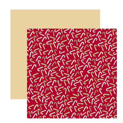 American Crafts - Merrymint Collection - Christmas - 12 x 12 Double Sided Paper with Foil Accents - Candy Stripe, CLEARANCE