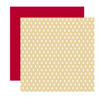 American Crafts - Merrymint Collection - Christmas - 12 x 12 Double Sided Paper - Caramel, CLEARANCE