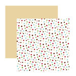 American Crafts - Merrymint Collection - Christmas - 12 x 12 Double Sided Paper - Sugar Cookie, CLEARANCE