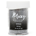 American Crafts - Moxy Embossing Powder - Glitter - Silver - 1 Ounce
