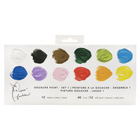 American Crafts - Paper Fashion Collection - Gouache Paints - Water Soluble - Set 1