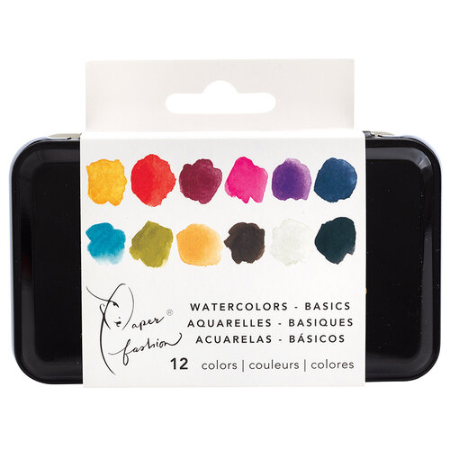 American Crafts - Paper Fashion Collection - Half-Pan Paints - Watercolor - Basics