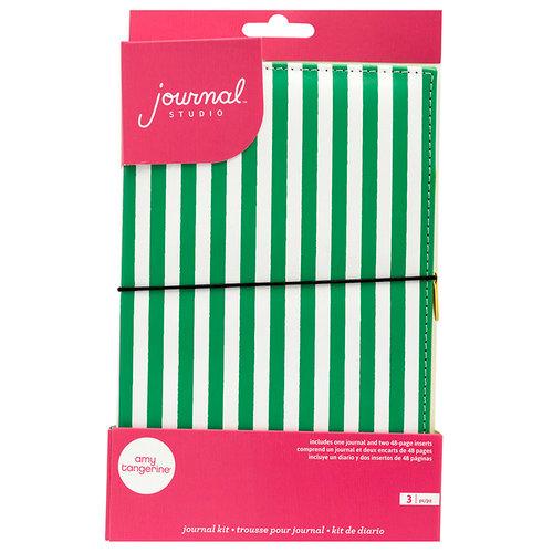 American Crafts - Journal Studio Collection - Amy Tan - Journal Kit - Green Stripe