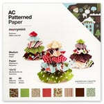 American Crafts - Christmas - 12 x 12 Patterned Paper Pack featuring Glitter and Foil - 60 Sheets - Merrymint, CLEARANCE