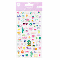 American Crafts - Journal Studio Collection - Mini Puffy Stickers - Good Vibes