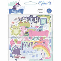 American Crafts - Head in The Clouds Collection - Ephemera with Foil Accents